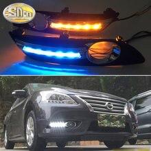 SNCN 2 uds luz LED de conducción diurna para Nissan Sentra 2012 - 2015 accesorios de coche impermeable ABS 12V DRL niebla lámpara Decoración