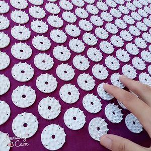 Image 5 - Massager almofada (62*38cm) conjuntos de acupuntura esteira de acupressão com almofada de massagem travesseiro massagem e relaxamento