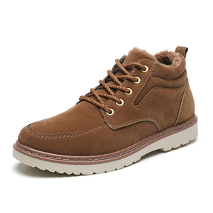 Image 5 - Men Shoes Winter Boots Men Nubuck Leather Waterproof Add Cotton Keep Warm Timber Land Shoes Thick Bottom Non slip Chelsea Boots