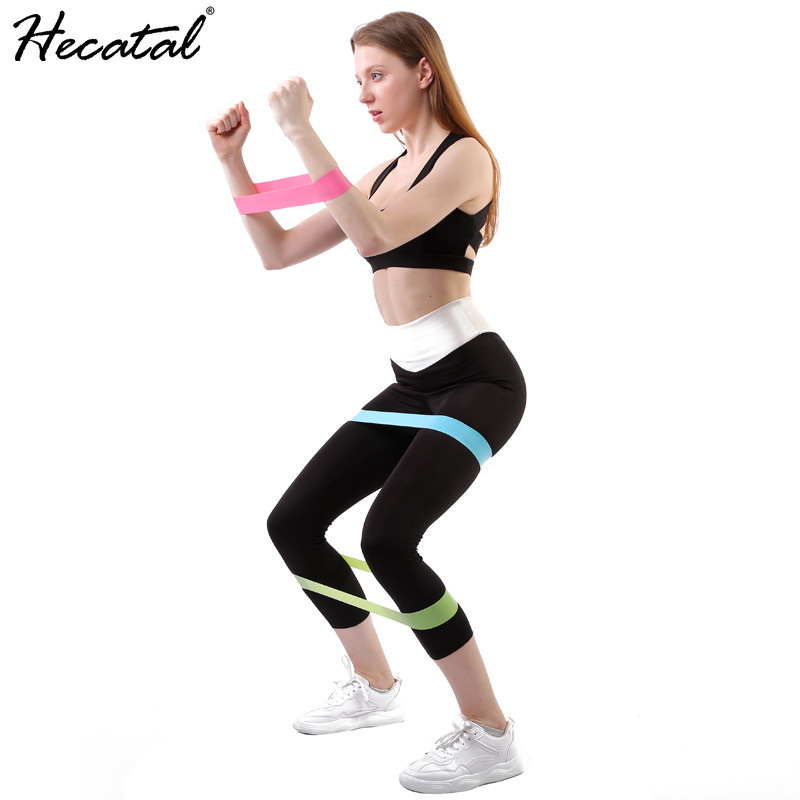 HECATAL High Elastic Ring Resistance Band Pull Ring Beautiful Buttocks Yoga Fitness Squat O-ring Elastic Band Exercise Equipment