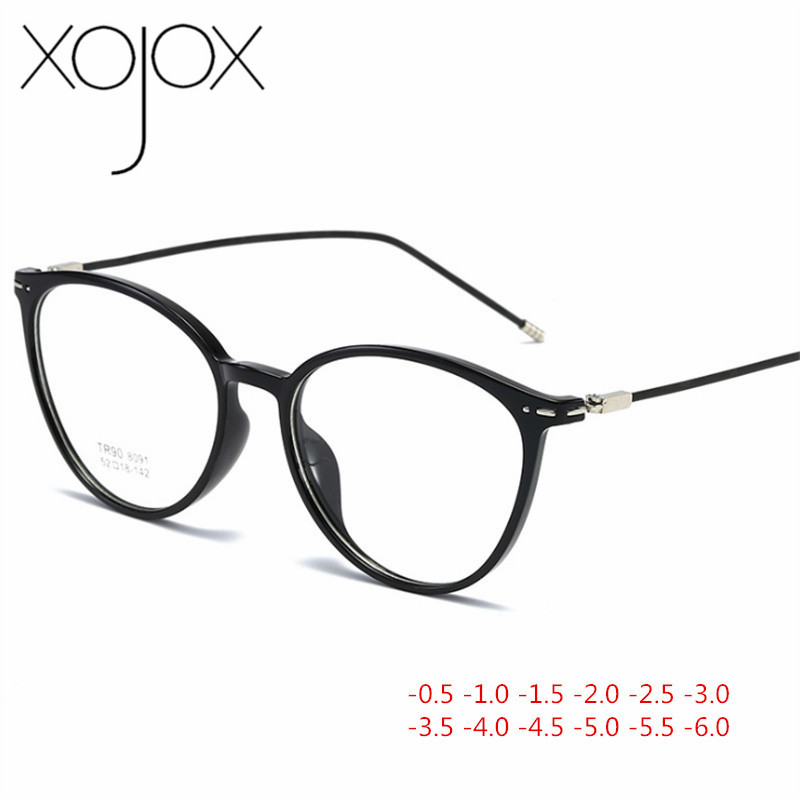 XojoX 2020 Fashion Finished Myopia Glasses Women Men Ultralight Transparent Myopia Eyeglasses Short-sighted Glasses -1 -1.5 -2.0