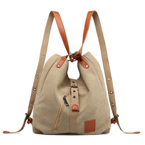 Canvas Women Shoulder Bags High Quality Multifunction Women Back Pack For Students School Travel Bags Large Capacity(China)