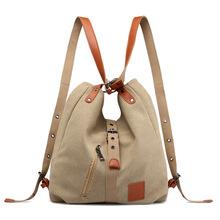 Płótno damskie torebki na ramię wysokiej jakości wielofunkcyjne kobiety plecak dla studentów plecaki szkolne o dużej pojemności tanie tanio Na co dzień torebka Torby na ramię zipper Miękkie Ił kieszeń Women canvas bags Poliester Wszechstronny Stałe Pojedyncze