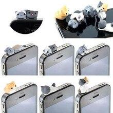 חמוד חתול אנטי אבק לכלוך עמיד תקע 3.5mm אוזניות שקע אוזניות טלפון אביזרי עבור IPhone 5 5S Se 6 6s Huawei P20 לייט P9