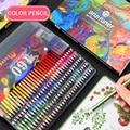 Professionelle 48/72/120/160/180 Farben Brutfuner wasser Farbe Bleistifte Holz Weiche öl farbe Bleistift für Schule Zeichnen Skizze Kunst Supplie