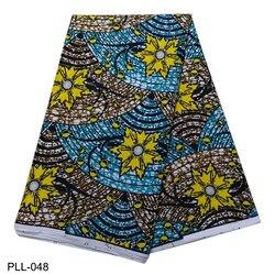 Poliester afrykański woskowana tkanina z nadrukiem tkanina wyszywana kamieniami afrykańska tkanina Ankara druk woskowy materiał 5 metrów za dużo PLL-036