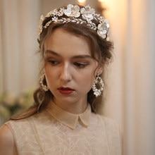 Grande floral coroa de noiva tiara cabelo prata cor folha casamento headpiece artesanal festa baile cabelo hairband jóias