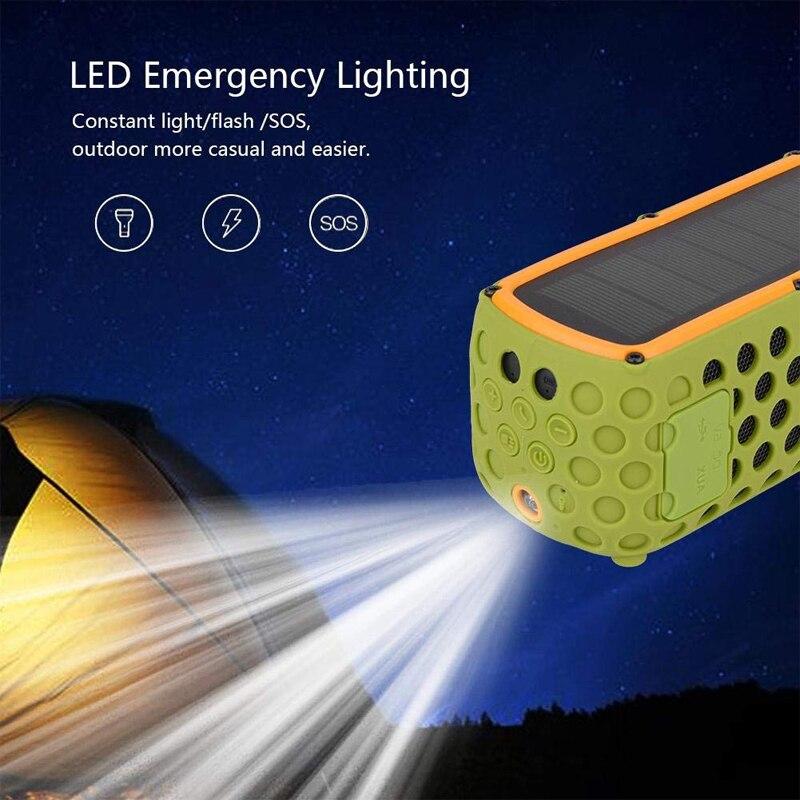 Altavoz Solar portátil Bluetooth con luz LED y micrófono incorporado Compatible con iPhone Samsung y dispositivos inteligentes IPX5 a prueba de agua - 5