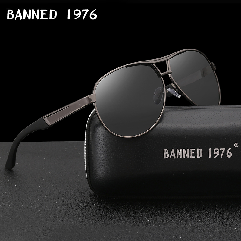BANNED Cool men's Polarized Sunglasses brand new gafas male driving Sun Glasses classic eyewear Oculos with original box image