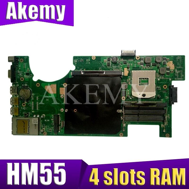 G73JH For ASUS G73 G73J G73JH G73JF mainboard 4 slots RAM laptop motherboard HM55 REV2.0 Test work 100%