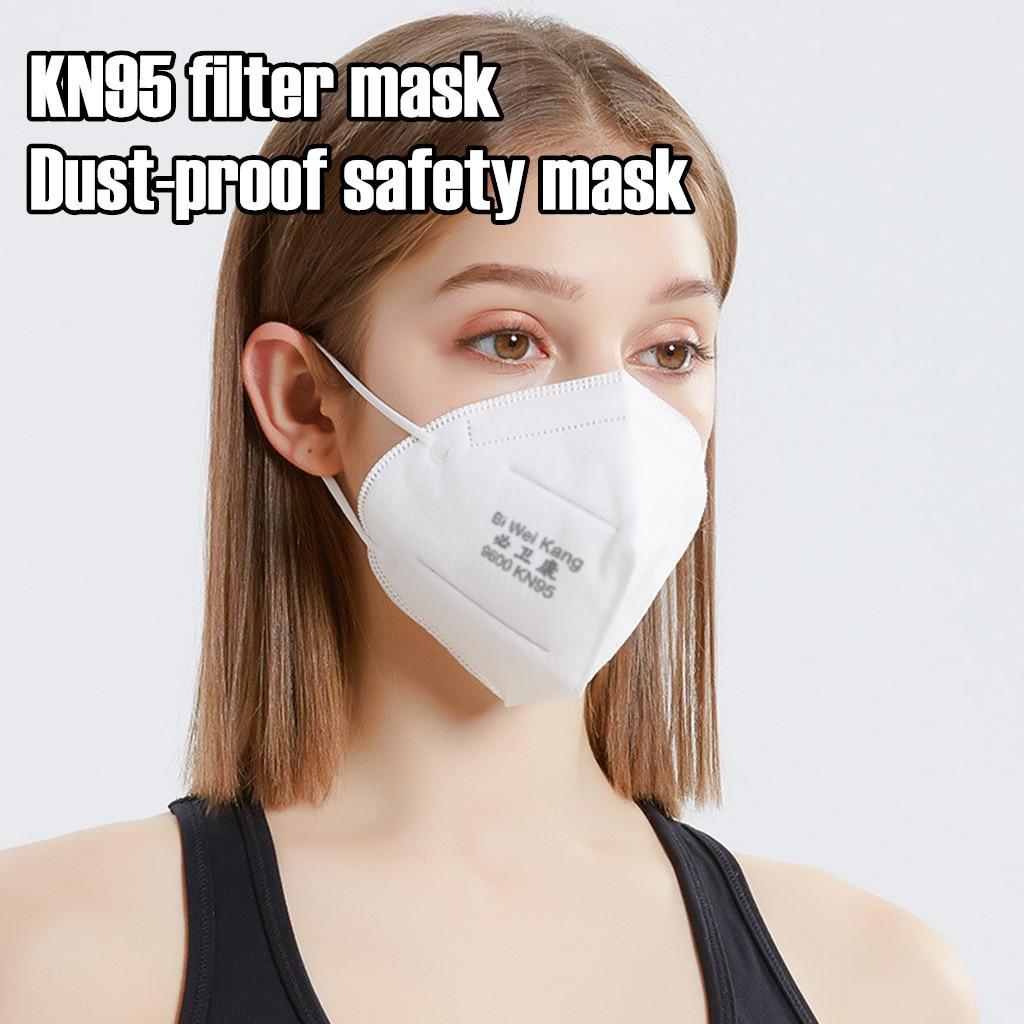 KN95 Dustproof Mask,Dust Mask PM2.5 Windproof Foggy Haze Pollution Respirator Mascherine Antivirus Anti-particles Work Safe Mask