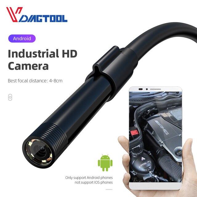 Vdiagtool эндоскоп камера 5,5 мм 7 мм 8 мм IP67 Водонепроницаемый 6 светодиодный бороскоп Автомобильная Инспекционная камера для Android Loptop