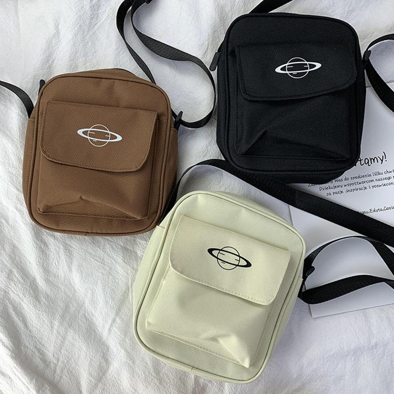 Women Canvas Bag Japan Style Girl Small Shoulder Bags Korean Fashion Casual Female Messenger Crossbody Bag Purse Phone Bag