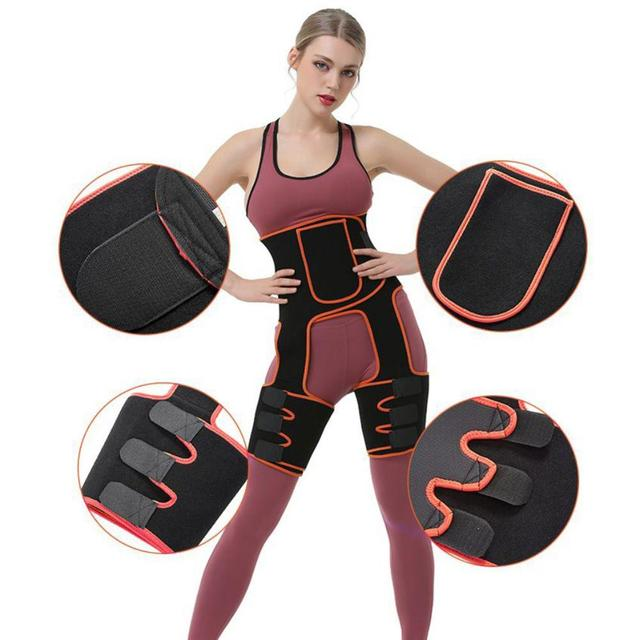 Sweat Hip Band for Back Pain Fitness Waist Yoga Belly Abdomen Stovepipe Fat Burning Body Shape Belt Women Sports Accessories Hot 2