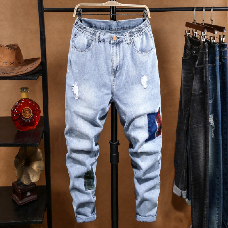 2020 Spring And Summer Jeans Men's Popular Brand New Style Autumn And Winter Men Trend Hip Hop Versatile Loose-Fit Harem Long Pa