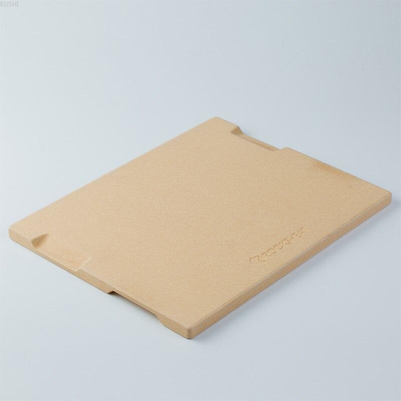 2 Shapes New Design Ardósia Pedra da Pizza Cordierite Forno de Cozimento de Pizza Placa de Cozimento com Alças Nos Dois Lados do Projeto Da Cozinha ferramentas - 3