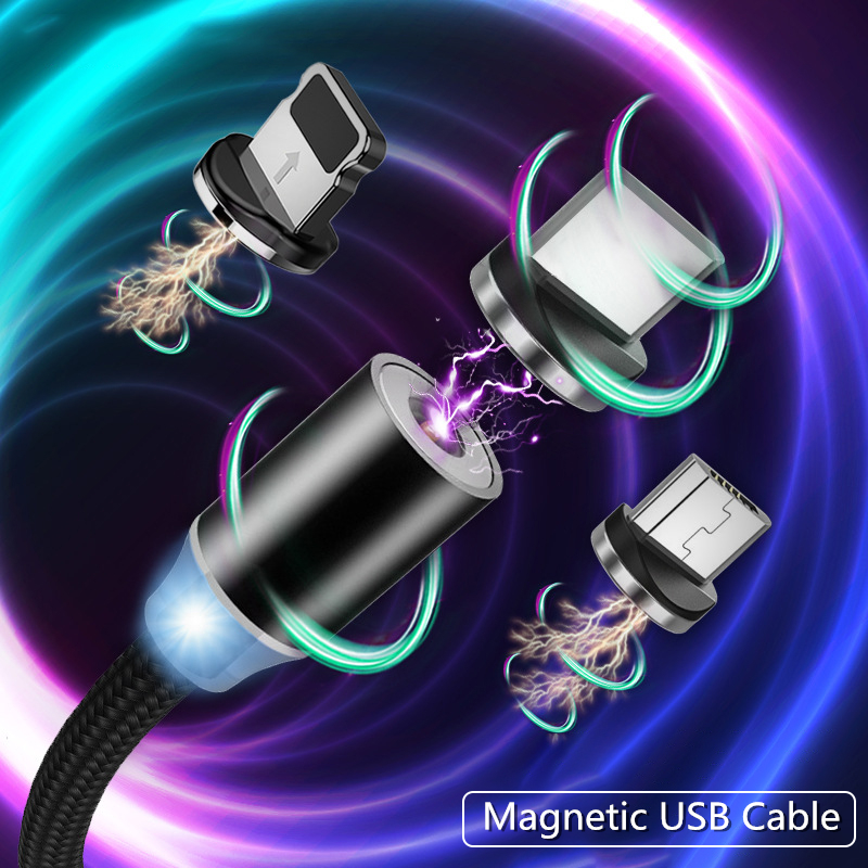 Magnetic USB Cable Fast Charging For Android IOS Iphone TYPE-C Micro USB Data line for Xiaomi Redmi <font><b>Samsung</b></font> Cord Magnet Plug image