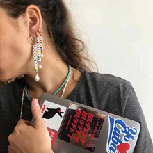 2019 Time-limited Tassel Earrings Brinco New Fashion Personality English Letter Drop For Women Resin Pendant Jewelry
