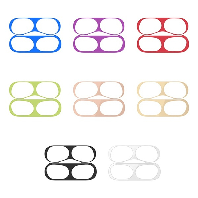 US $0.99 50% OFF|Metal Dust Guard for Airpods Pro Sticker Apple Skin Accessories Case Charging Box Protector for Airpod 3 Air Pods Airpods3