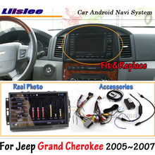 Liislee Android 8,0 up для Jeep Grand Cherokee 2005~ 2007 стерео экран Carplay BT без DVD плеера gps навигация Мультимедийная система