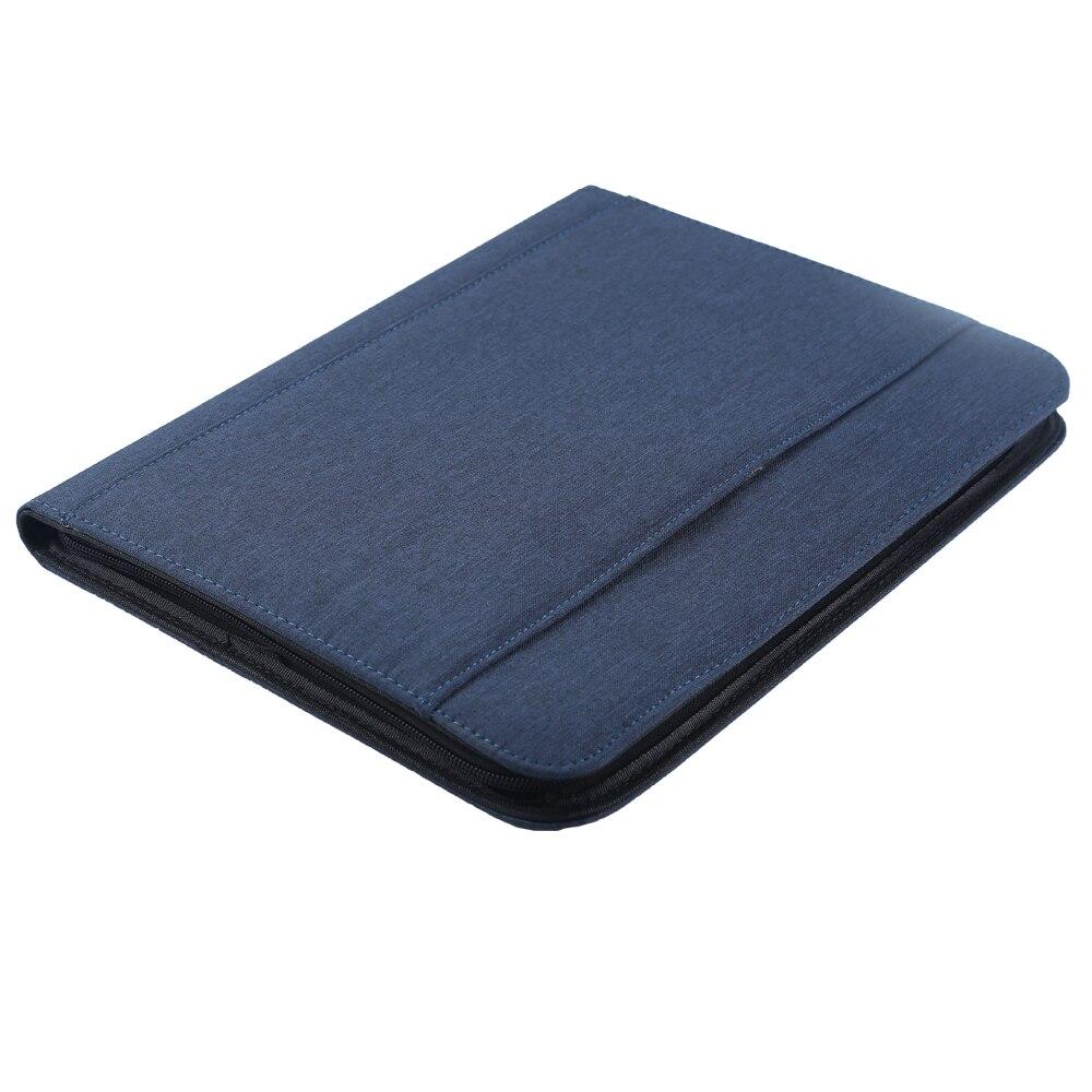 A4 Portable organisateur de voyage poches dossier dossier de conférence sac d'affaires Padfolio portefeuille gestionnaire avec support pour téléphone pour hommes - 4