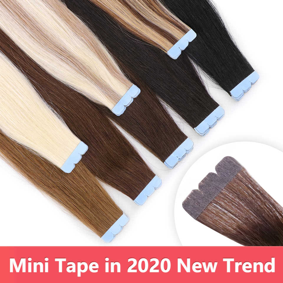 Mrshair Mini-Tape In Human Hair Extensions Micro Interface Tape Machine Remy Hair Extensions 3X0.8Cm Lijm invisiable Tape