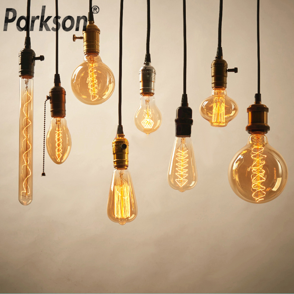 Dimmable Retro Edison Light Bulb E27 40W 110V 220V Ampoule Retro Lamp Incandescent Filament Vintage Decorative Light Bulb