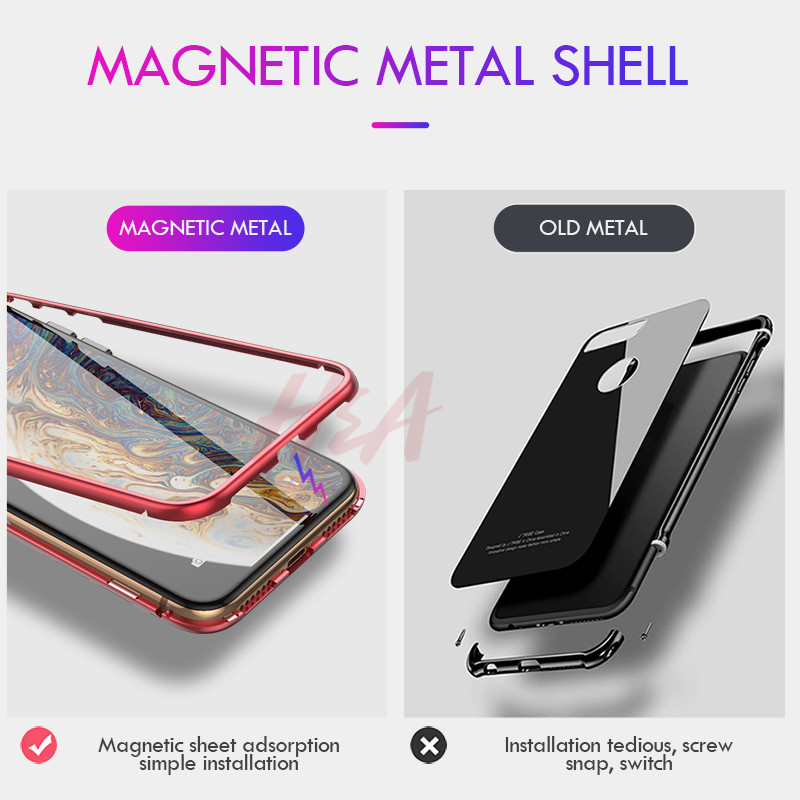 Image 5 - H&A Metal Magnetic Adsorption Case For iPhone XS MAX XR X 8 7 6 Plus Phone Case For iPhone XR XS MAX Magnet Magnetic Cover Case-in Phone Bumpers from Cellphones & Telecommunications