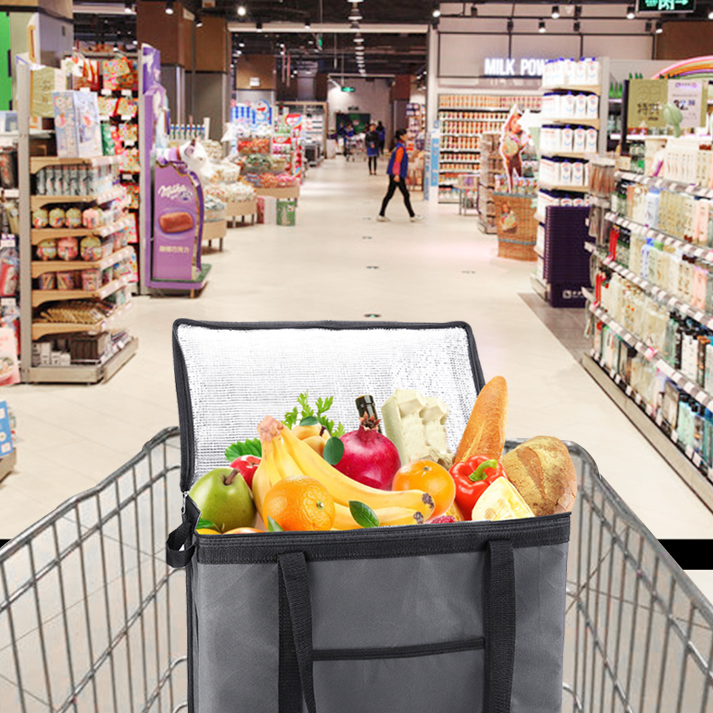 Dobrável carrinho de compras de supermercado dobrar