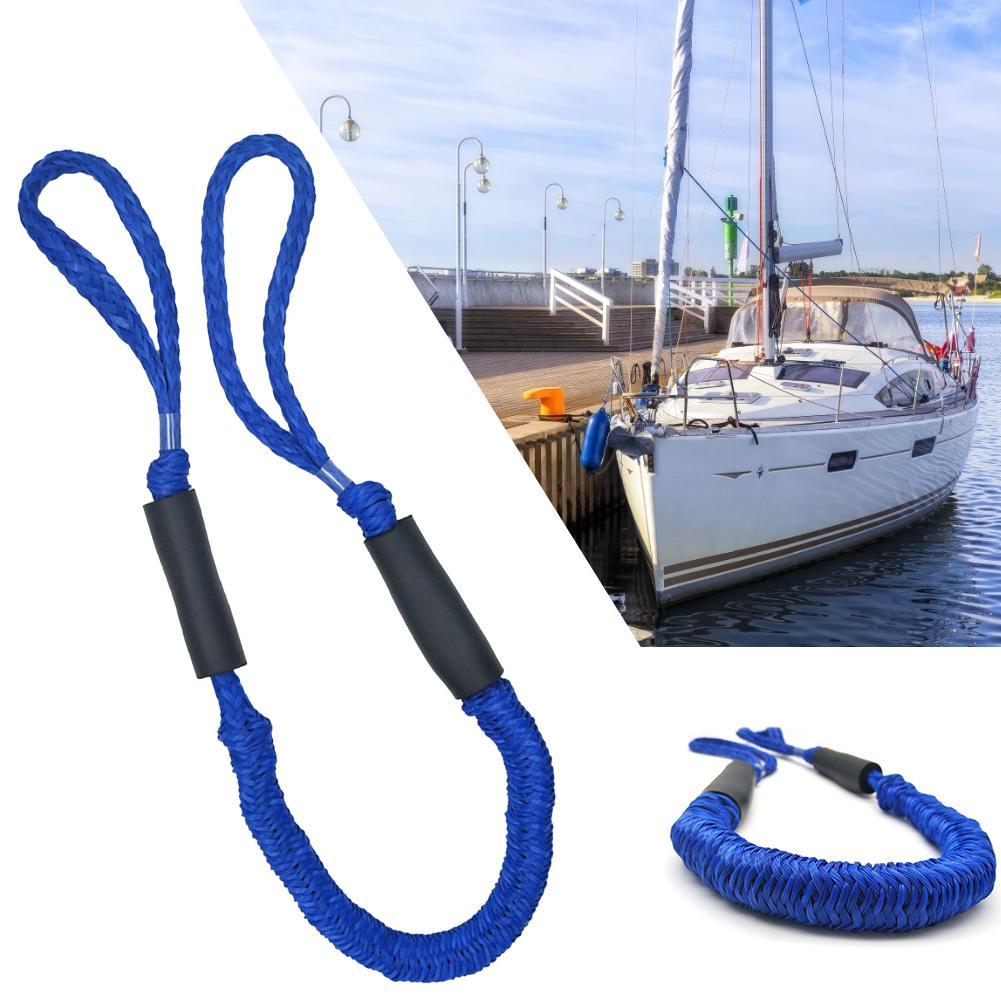 2Pcs 108 Cm 5ft High Strength Marine Boat Bungee Dock Line Anchor Rope Mooring Cord Kayak