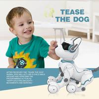 Early Education Smart RC Robot Dog Walk & Dance Interactive Pet Puppy Robot Dog Remote Voice Control Intelligent Toy For Kids