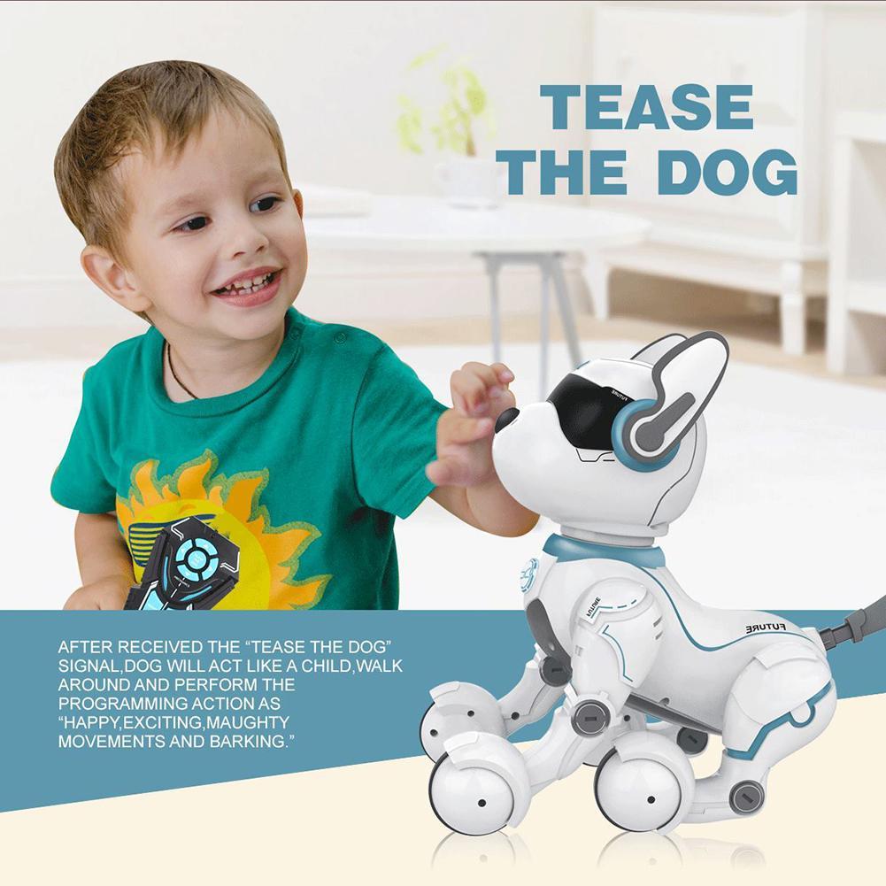 Juguete inteligente de Control remoto de voz de perro Robot de juguete para educación temprana los niños