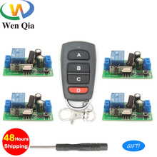 433Mhz Universal Wireless Remote Control Switch AC 110V 220V 1 CH Relay Receiver Module 4 CH RF LED Remote Transmitter Light DIY hot sale wireless remote control light switch 10a relay radio ac 220v 1 channel mini receiver module 20 200m transmitter