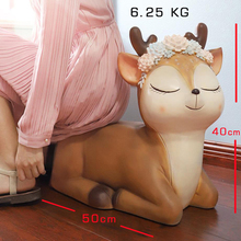 Lovely Animal Sika Deer Style Stools & Ottomans Living Room Furniture Piggy Bank Creative Shoes Cabinet Low Stool Home Furniture