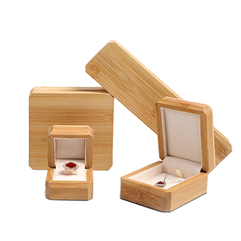 Handmade Wooden Ring Packaging Box Wedding Pendant Necklace Jewelry Creative Gift Display Boxes 2020 The New Listing