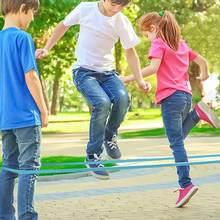 Crianças alongamento elástico borracha saltar corda crianças clássico jogo ao ar livre brinquedo