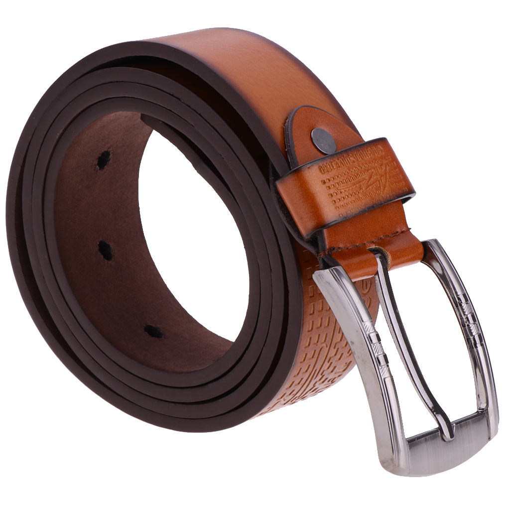 Fashion Men's Luxury Waistband Leather Belts Trousers Pin Buckle Waist Strap Width 3.8cm