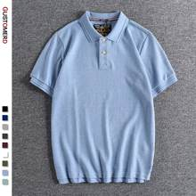 New Summer Man Polos 100% Cotton Solid Classic Polo Shirt Men Short Sleeve Top Brand Quality Casual Business Social Polo Men