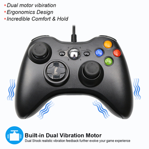 Image 5 - USB Wired Vibration Gamepad Joystick For PC Controller For Windows 7 / 8 / 10 for Xbox 360 Joypad Games Hot Selling Black White