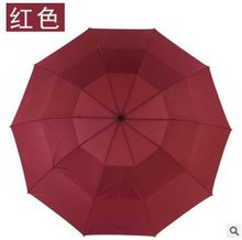 130cm Men Umbrella Double Layer 3 Folding Non-Automatic Business Umbrella 10K Strong Windproof Rain Male Umbrella Women folding direction umbrella double inverted c holding bracket male and female rainproof windproof rolling direction umbrella