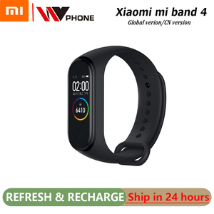 Original XiaoMi Mi Band 4 Smart Wristband Fitness Bracelet MiBand Band 4 Heart Rate Time Big Touch Screen Message Smartband(China)
