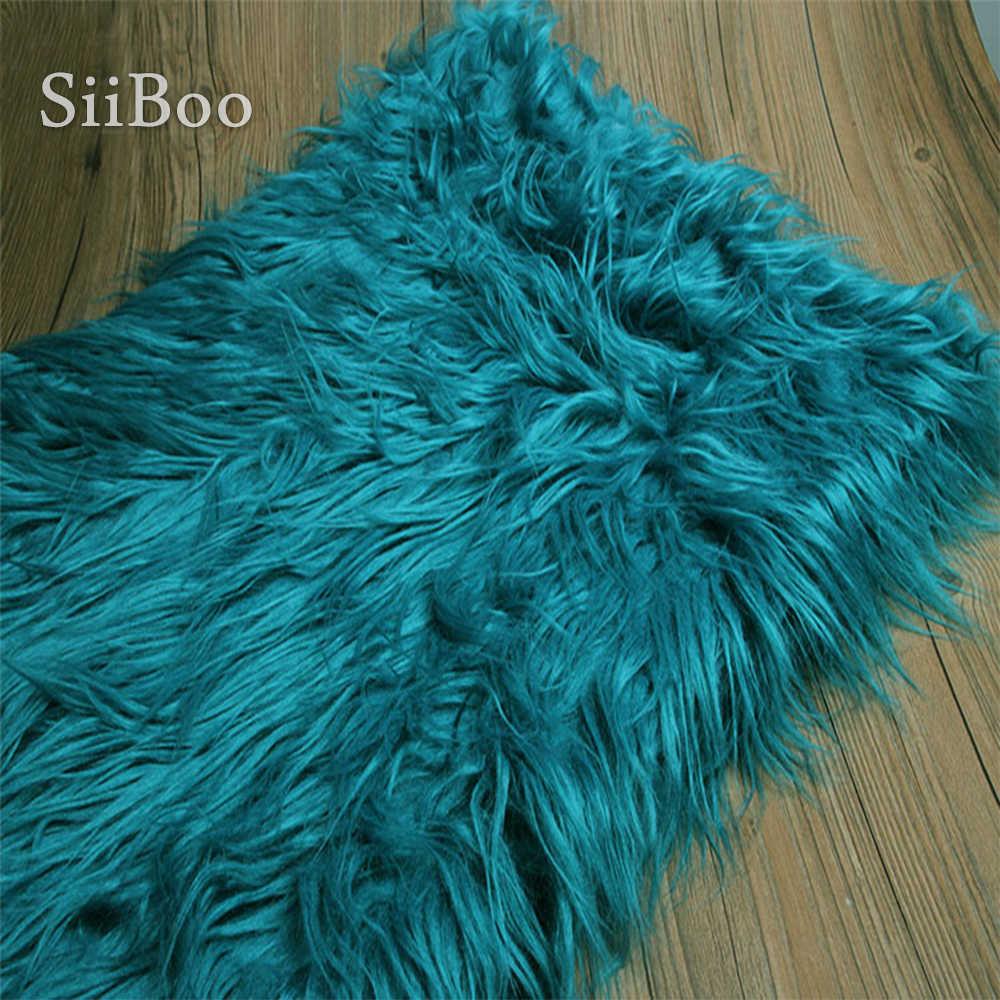 Effen Blauw Roze Rood Wit Zwart Kleur 7 Cm Lange Stapel Pluizige Nep Geit Wol Fur Stof Voor Winterjas fotografische Cosplay SP5979