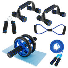 Ab Roller Abdominal Exercise Jump Wheel Rope Roller Push up Rack Resistance With Mat Gym Exercise Fitness Gym Workout Equipment