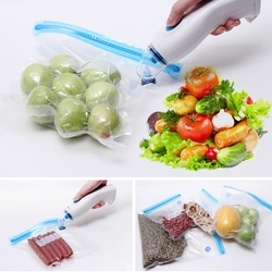 Portable Wireless Handheld Vacuum Sealer With 5 Pieces Reusable Food Vacuum Sealers Bags,Small Kitchen Appliance For Food Preser