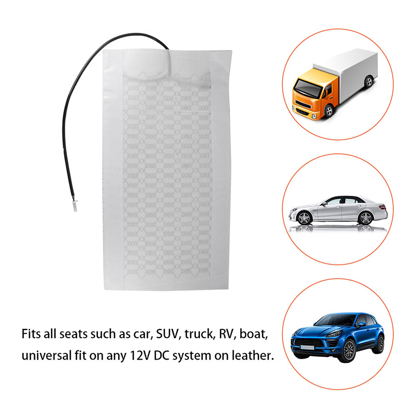 Carbon Fiber Seat Heated Heating Pad High Quality For Any Round Rectangular Switch Backrest Cushion For 12V Car Styling