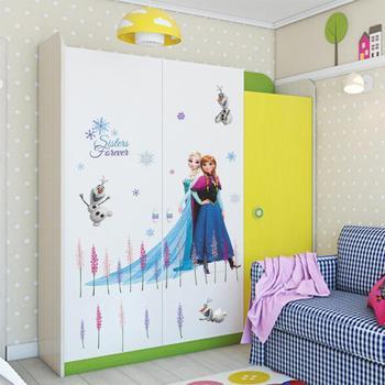 Cartoon Princess Elsa Wall Stickers for Kids Rooms Girls Bedroom Poster Vinyl DIY Mural Art Adesivo de parede Decal Baby Nursery 35