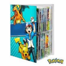 240 pçs álbum pokemon livro anime pikachu cartões de jogo instrutor mapa cartões pasta titular colecionável carregado lista crianças brinquedos presente