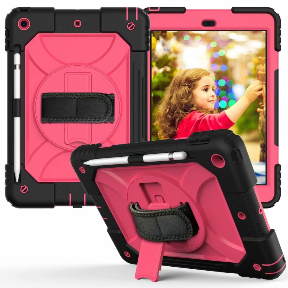 Hand For iPad Strap Cover iPad Pencil For Holder Stand Case Rotating Generation 7th 360