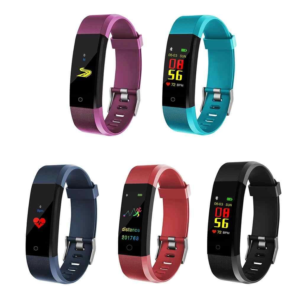 Yeni 115 artı 0.96 inç renkli ekran akıllı bilezik spor akıllı saat kan basıncı egzersiz dinamik kalp hızı izleme adım C