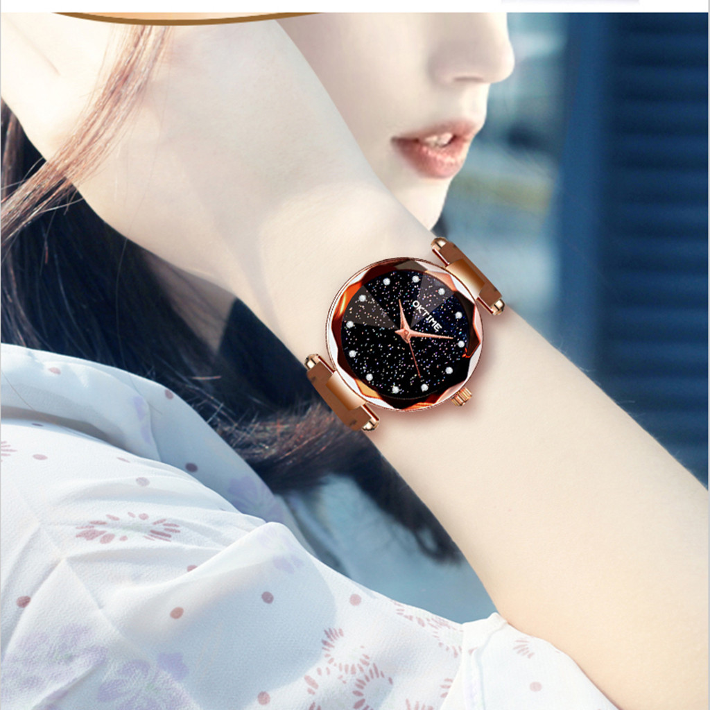 Womens Romantic Starry Sky Faux Leather Analog Quartz Watch relgio feminino Special creative leather ladies watches 2020 Gift 3